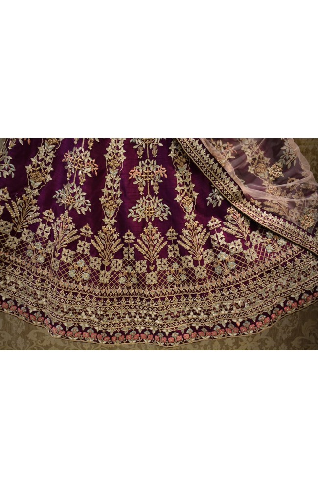 Ranas Raw Silk Gota Patti Lehenga