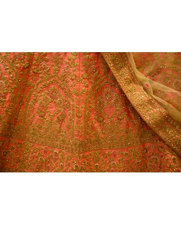 Ranas Peach Color Lehenga