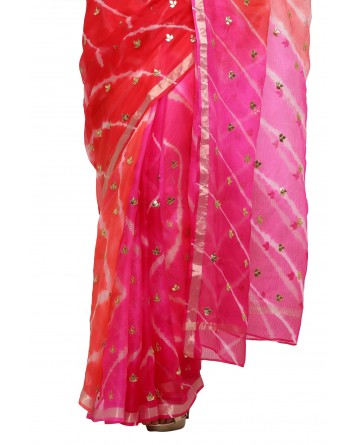 Ranas Multi Leheriya Gota Saree