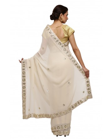Ranas Georgette Gota Patti Saree