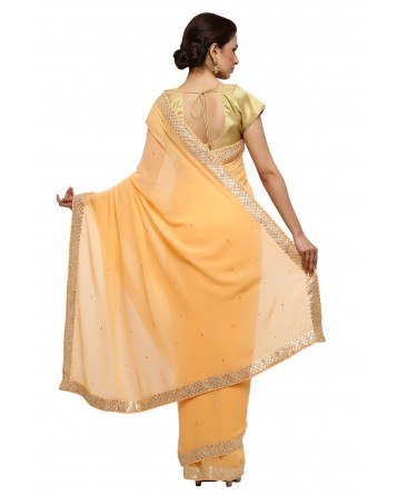 Ranas Peach Color Gota Saree