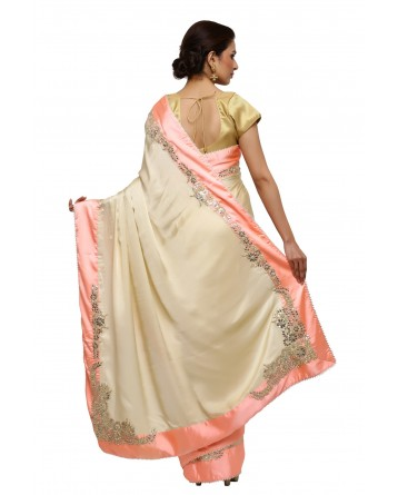Ranas Beige Color Gota Patti Saree