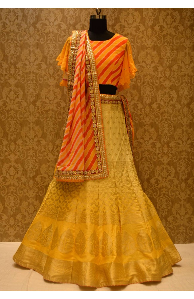 Ranas Shaded Yellow Lehenga