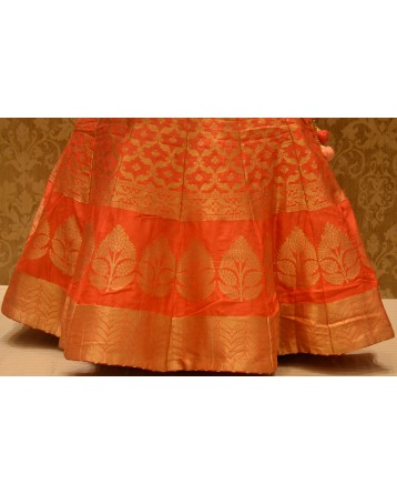 Ranas Peach Pink shaded Lehenga