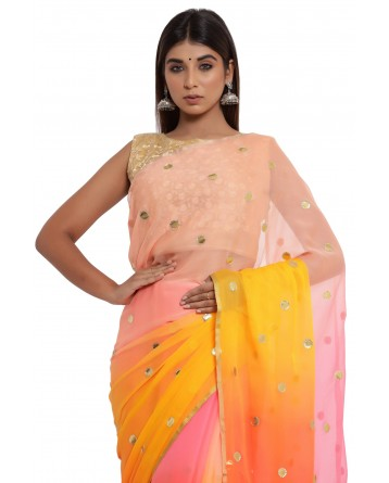 Ranas Shaded Chiffon Saree