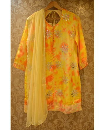 Ranas Yellow Plazo Set