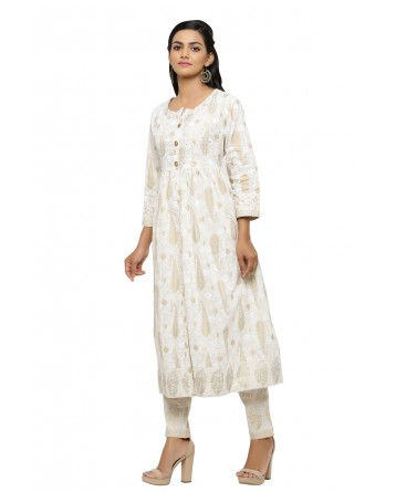 Ranas Off White Kurta Set