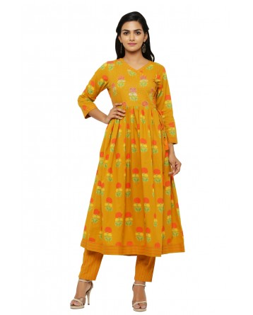 Ranas Mustard Color Suit