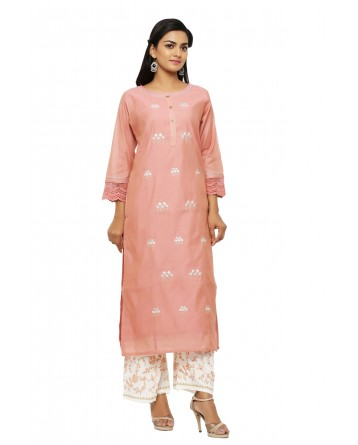 Ranas Cotton Chanderi Kurta & Plazao Set