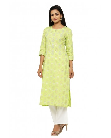 Ranas Cotton Foil Print Kurta with Pant
