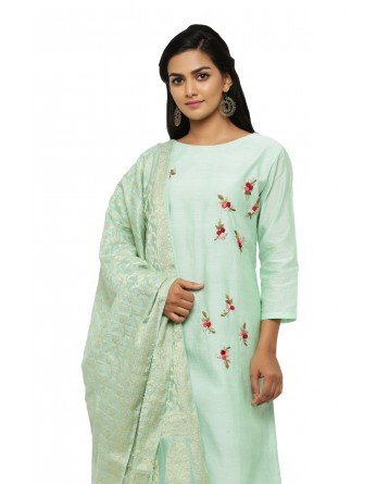 Ranas Green Chanderi Suit