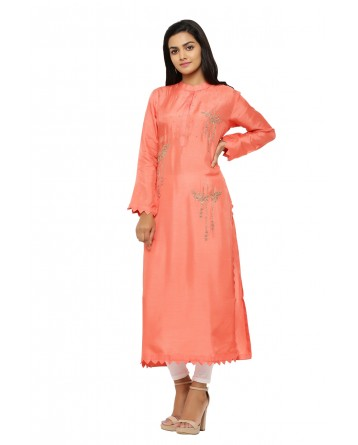Ranas Peach Color Kurti