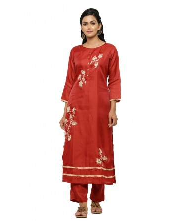 Ranas Maroon Color Suit