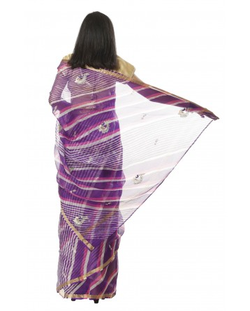 Ranas Purple Leheriya Kota Silk Saree