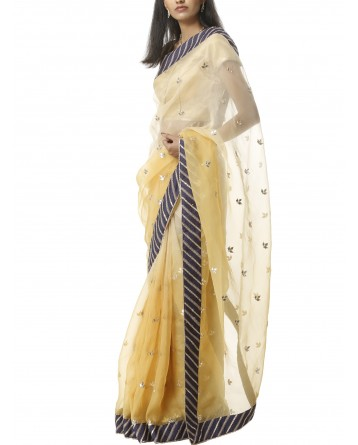 Ranas Yellow Organza Gotta Patti Saree