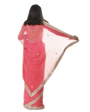 Ranas Georgette Gota Patti Mothda Saree