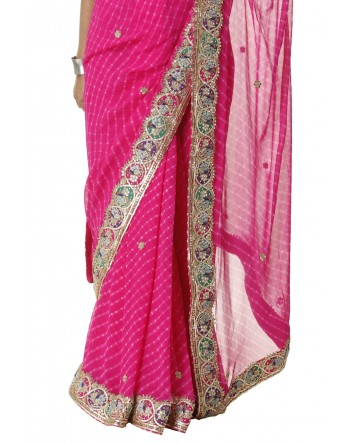 Ranas Rani Mothda Pure Georgette Saree