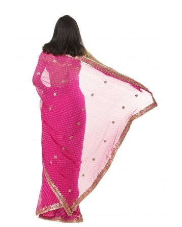 Ranas Rani Mothda Gota Patti Saree