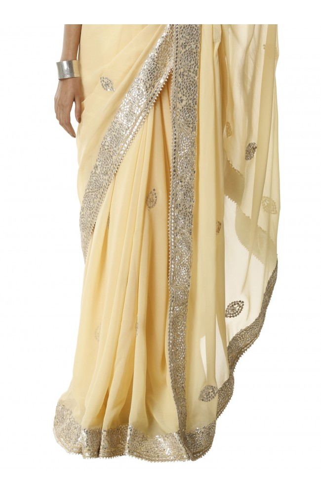 Ranas Gotta Patti Faux Georgette Saree