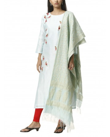 Ranas Sky Blue Chanderi Suit