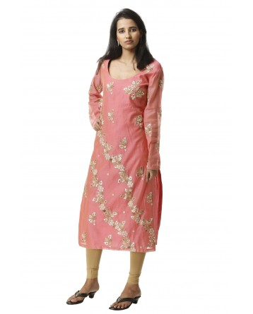 Ranas Straight Fit Chanderi Gotta Patti Kurti