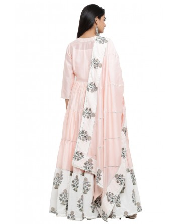 Ranas Chanderi And Cotton Block Print Suit