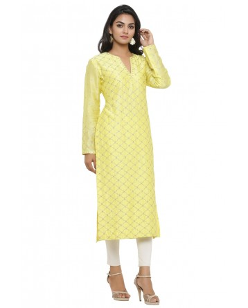 Ranas Yellow Color Chanderi Kurti