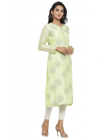 Ranas Light Green Chanderi Kurti