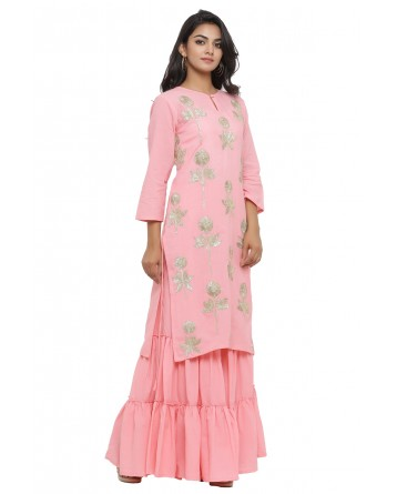 Ranas Pink Color Cotton Suit