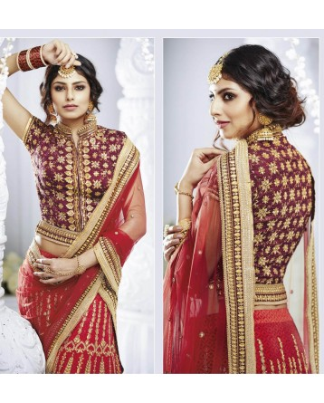 DESIGNER LEHENGA RED COLOR
