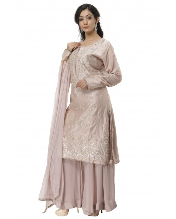 Ranas Movish Pink Chanderi Suit
