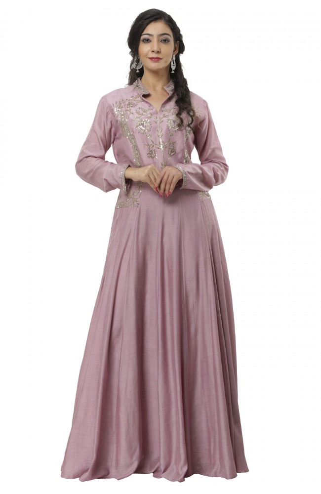 Ranas Movish Pink Chanderi Gown