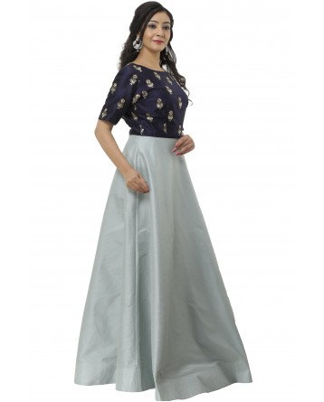 Ranas Blue & Grey Color Gown