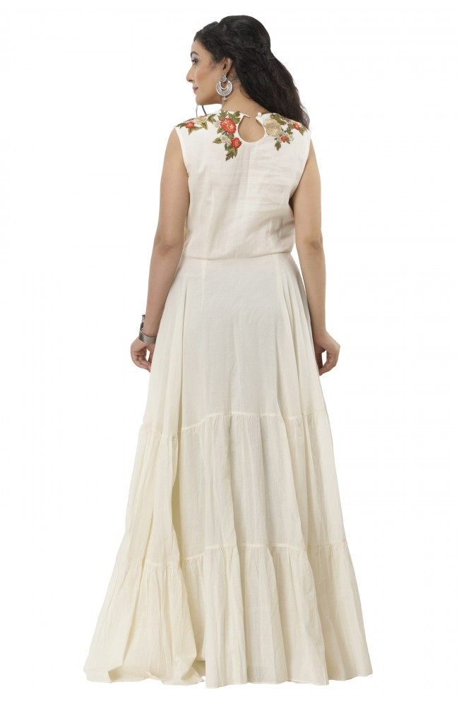 Ranas White Color Gown