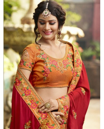 DESIGNER  RESHAM THREAD EMBRODIERY SAREE