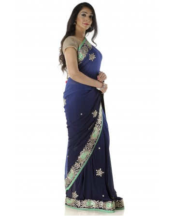 Ranas Blue Shaded Saree