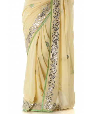 Ranas Pure Georgette Gotta Patti Saree