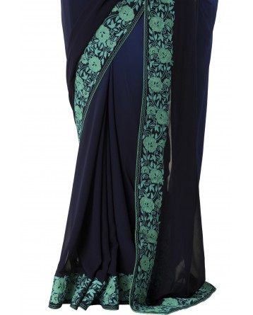 Ranas Blue Color Georgette Saree