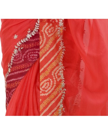Ranas Orange  Color Kota Silk Saree