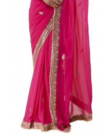 Ranas Rani Color Georgette Saree
