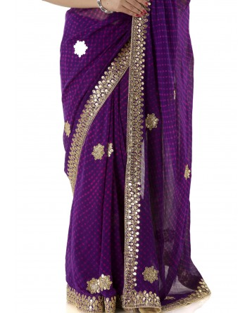 Ranas Purple Mothda Saree