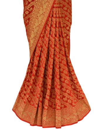 Ranas Red Color Saree