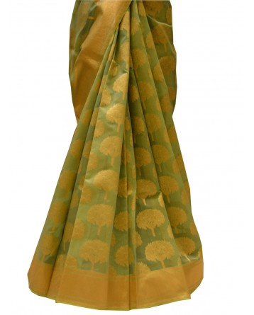 Ranas Green Chanderi Saree