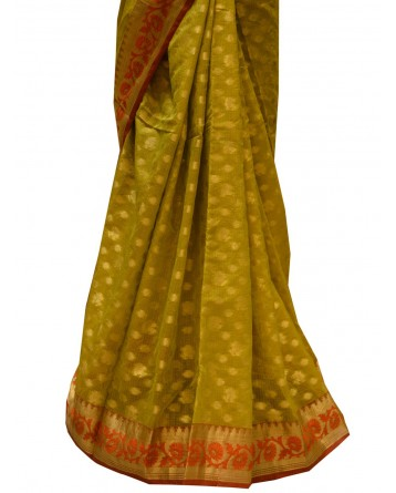 Ranas Olive Green Saree