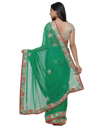 Ranas Green Mothda Saree