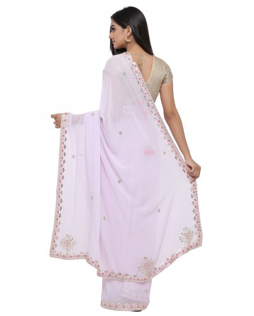 Ranas Light Purple Gota Patti Saree
