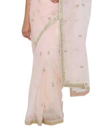 Ranas Peach Color Gotta Patti Saree