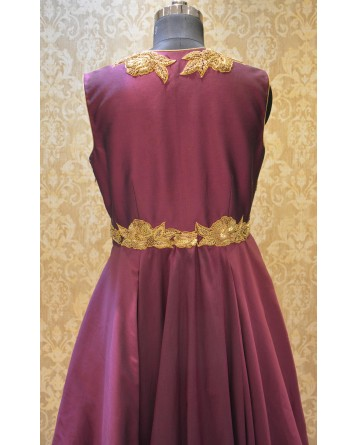 Ranas Wine Color Gown
