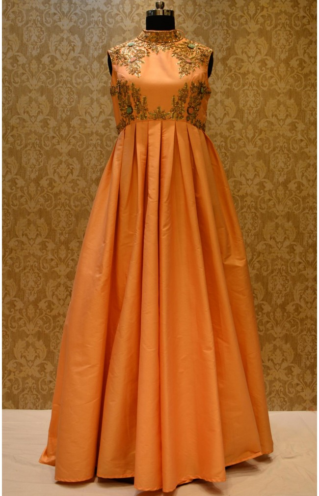 Ranas Peach Color Gown