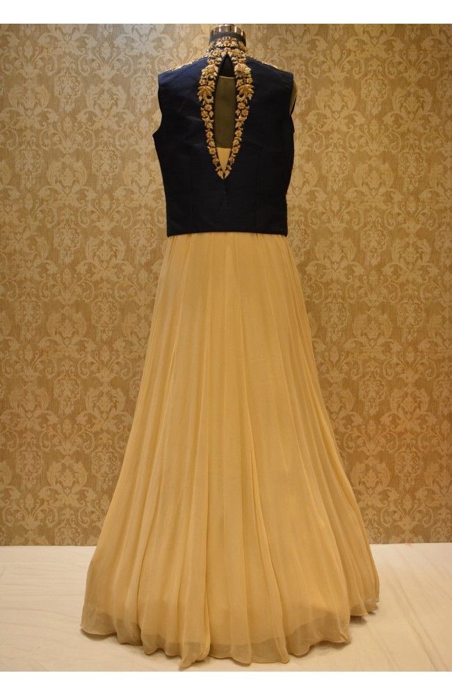 Ranas Beige Color Gown with Jacket